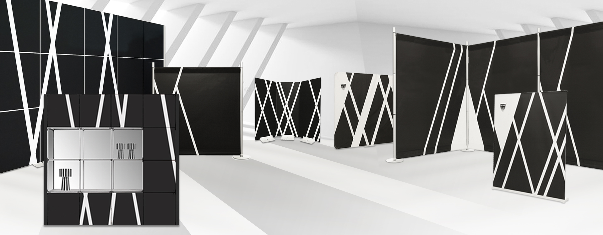 modular and modular walls for portable exhibition stands